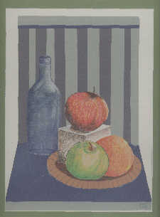 Image_Bottle and Fruit 12x14